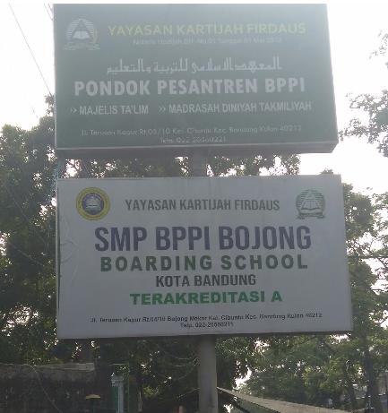 Plang SMP BPPI BOJONG