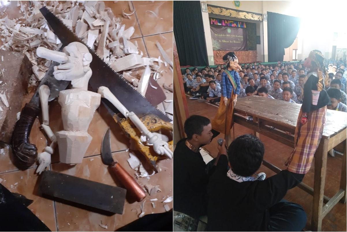 Ekstrakurikuler Ukir Wayang - SMP YAS