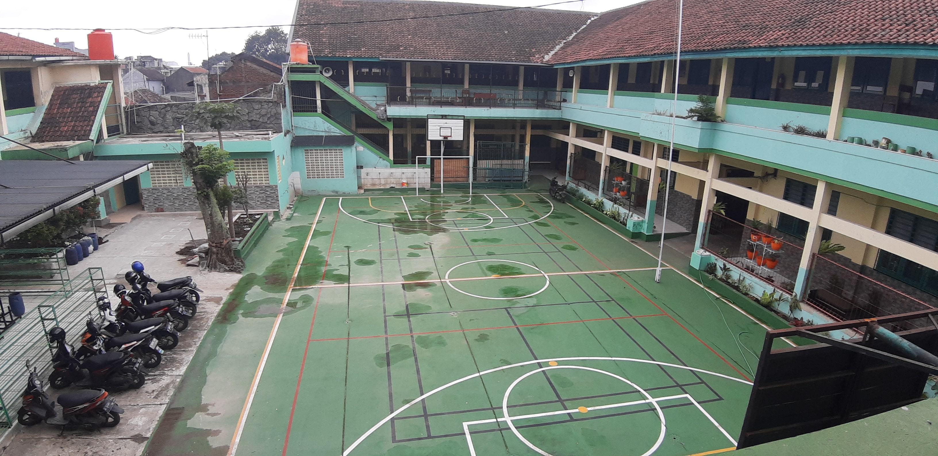 Kondisi Lapangan sekolah saat vandemi