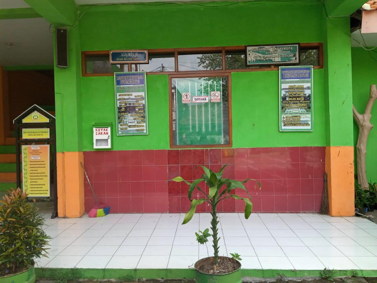 Foto Ruang Kepala Sekolah tampak samping