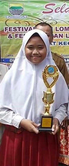 Ananda Rachelia Natasha Juara 1 Cerita bergambar Tk Kec. Bacip 2019