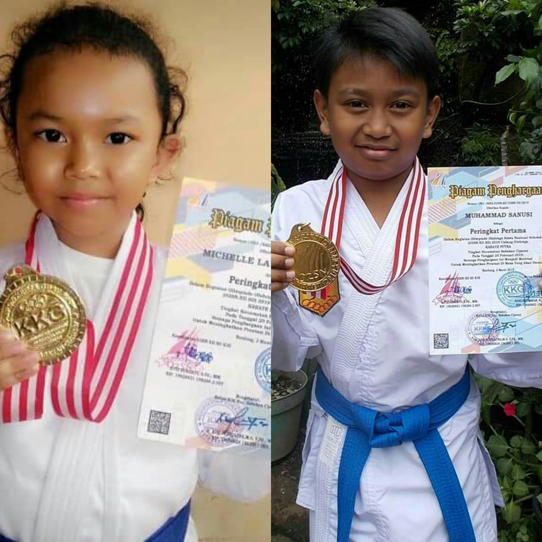 Ananda Michele & Muhamad Sanusi Juara Karate O2SN Tk Kec. Bacip Tahun 2019