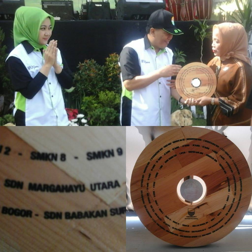 Penerimaan Penghargaan Adiwiyata Kota Bandung Tahun 2015