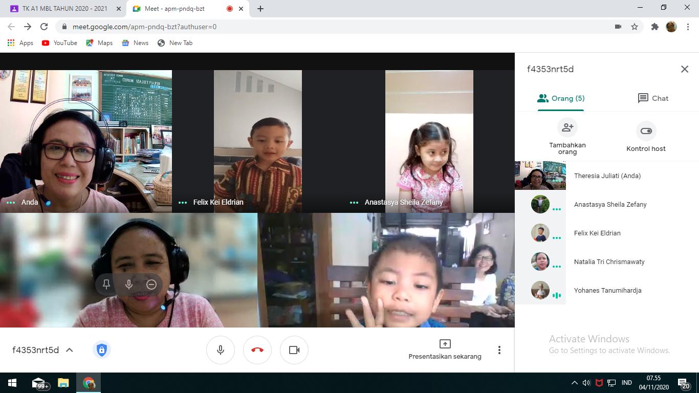 Pembelajaran Jarak jauh dengan Google meet
